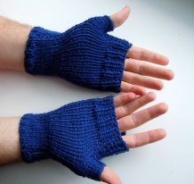 wool hand knit fingerless gloves