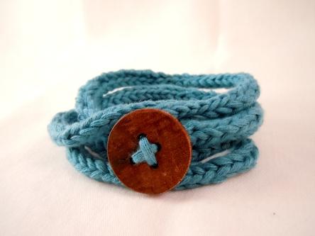 knit wrap bracelet