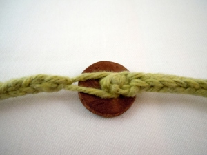 knit bracelet button