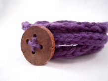 purple knit wrap bracelet