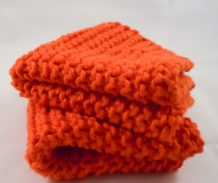 basic knit washcloth