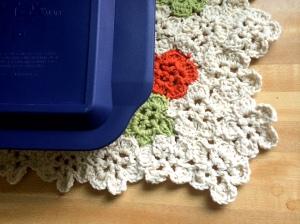 crochet flower mat