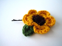 Sunflower Hair Pin