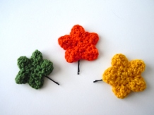 Crochet Star Hair Pins