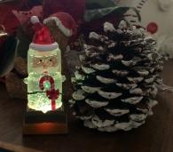 Smores Santa Snowglobe