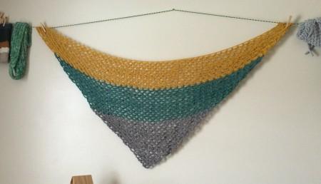 Large shawl pre-felting