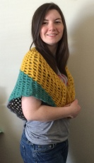 Finished Crochet Summer Shawl 2